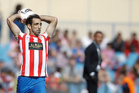 01.04.2012 MADRID, SPAIN -  La Liga match played between At. Madrid vs Getafe (3-0) at Vicente Calderon stadium. the picture show Juan Francisco Torres (Spanish midfielder of At. Madrid)