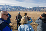Tour guide Jim Woods educates visitors on the Raptor Highway and Byway tour area during the Eagles & Agriculture event on Friday, Jan. 26, 2018 in the Carson Valley.