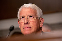 United States Senator Roger Wicker (Republican of Mississippi) listens during the Senate Committee on Commerce, Science, and Transportation on Capitol Hill in Washington D.C. on June 12, 2019. Credit: Stefani Reynolds/CNP/AdMedia