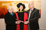 20/1/2015   (with compliments)  Attending the University of Limerick conferrings on Tuesday afternoon were Dr Rachel McEvoy, Killimor, Ballinasloe, Galway who was conferred with a PHD with her parents Peig and Gerry.<br /> Picture Liam Burke/Press 22