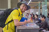 Home / Team depart from Seoul airport as Simon Patmore shows off his gold medal<br /> PyeongChang 2018 Paralympic Games<br /> Australian Paralympic Committee<br /> Sydney International Airport<br /> PyeongChang South Korea<br /> Tuesday March 20th 2018<br /> © Sport the library / Jeff Crow