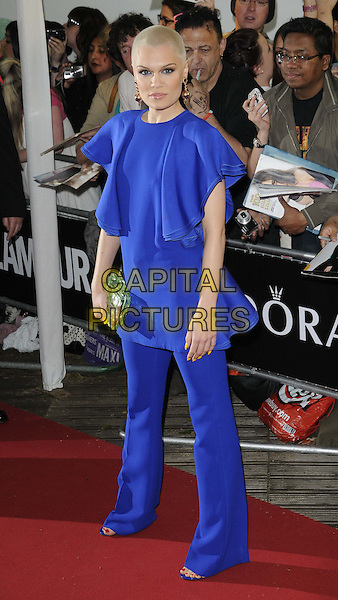 Jessie J ( Jessica Ellen Cornish )<br /> The Glamour Women Of The Year Awards 2013, Berkeley Square Gardens, London, England.<br /> June 4th, 2013<br /> full length dress blue shaved head bleach dyed blonde hair green clutch bag trousers <br /> CAP/CAN<br /> &copy;Can Nguyen/Capital Pictures