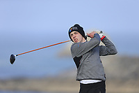 Aaron Ryan (Maynooth University) during the final of the Irish Students Amateur Open Championship, Tralee Golf Club, Tralee, Co Kerry, Ireland. 12/04/2018.<br /> Picture: Golffile | Fran Caffrey<br /> <br /> <br /> All photo usage must carry mandatory copyright credit (&copy; Golffile | Fran Caffrey)