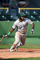 Beloit Snappers outfielder B.J. Boyd (23) at bat during a game against the Clinton LumberKings on August 17, 2014 at Ashford University Field in Clinton, Iowa.  Clinton defeated Beloit 4-3.  (Mike Janes/Four Seam Images)