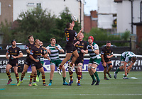 Karim Lynch of Ampthill RUFC during the RFU Championship Cup match between Ealing Trailfinders and Ampthill RUFC at Castle Bar , West Ealing , England  on 28 September 2019. Photo by Alan  Stanford / PRiME Media Images