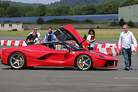 Chris Evans with his Ferrari LaFerrari during The Children's Trust Supercar Event at Dunsfold Park, Surrey, England on 22 June 2014. Photo by Andy Rowland.