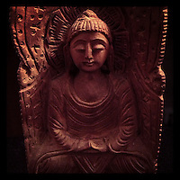 My Buddha statue ponders enlightenment on March 6, 2013.
