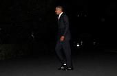 United States President Barack Obama arrives at the White House on October 11, 2010 after a trip to Miami, Florida. .Credit: Dennis Brack - Pool via CNP