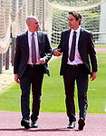 The coach of the national soccer team of Spain, Julen Lopetegui (r) with RFEF's President Luis Rubiales, during the signing of the renewal of his contract until 2020. May 22,2018. (ALTERPHOTOS/Acero)