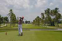 Amarapadma NARAHENPITAGE (SRI) watches his tee shot on 16 during Rd 1 of the Asia-Pacific Amateur Championship, Sentosa Golf Club, Singapore. 10/4/2018.<br /> Picture: Golffile | Ken Murray<br /> <br /> <br /> All photo usage must carry mandatory copyright credit (&copy; Golffile | Ken Murray)