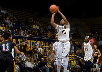 Mercedes Jefflo of California shoots the ball during the game against Long Beach State at Haas Pavilion in Berkeley, California on November 8th, 2013.  California defeated Long Beach State, 70-51.