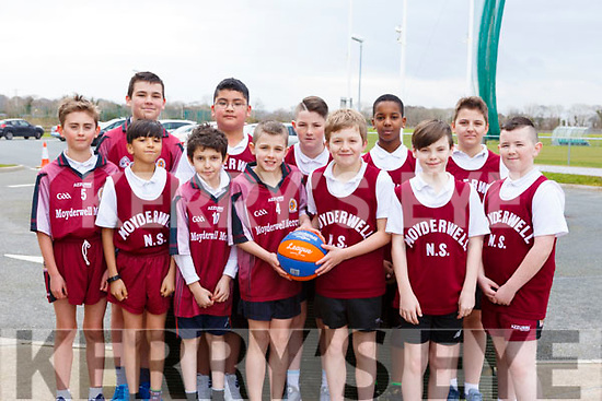 Moyderwell National School attending the CBS Hoops Basketball bliz in the John Mitchels complex on Friday morning last.