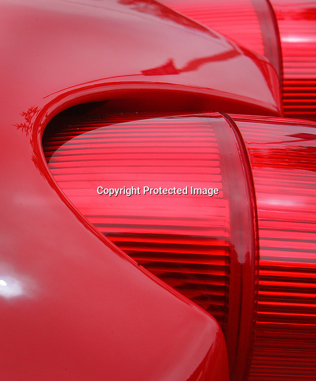 A tail light of a Ferrari found in Mill Valley, California,