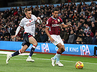 Bolton Wanderers' Craig Noone competing with Aston Villa's Neil Taylor<br /> <br /> Photographer Andrew Kearns/CameraSport<br /> <br /> The EFL Sky Bet Championship - Aston Villa v Bolton Wanderers - Friday 2nd November 2018 - Villa Park - Birmingham<br /> <br /> World Copyright &copy; 2018 CameraSport. All rights reserved. 43 Linden Ave. Countesthorpe. Leicester. England. LE8 5PG - Tel: +44 (0) 116 277 4147 - admin@camerasport.com - www.camerasport.com