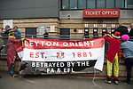 Leyton Orient 2 Hartlepool United 1, 17/04/2017. Brisbane Road, League Two. Leyton Orient keep their slim hopes of avoiding relegation from League Two alive by beating fellow strugglers Hartlepool United. The match was played out to a background of protests against Orient owner Francesco Becchetti. Photo by Simon Gill.