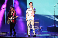 Pop group DNCE, with lead singer Joe Jonas, at WE Day 2016 at Wembley Arena, London.<br /> March 9, 2016  London, UK<br /> Picture: Steve Vas / Featureflash