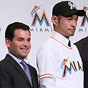 David Samson, Ichiro Suzuki, JANUARY 29, 2015 - MLB : Miami Marlins newly signed outfielder Ichiro Suzuki attends an introductory news conference in Tokyo, Japan. (Photo by Sho Tamura/AFLO SPORT)
