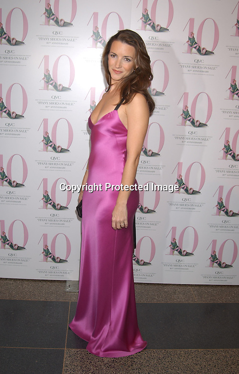"....Kristin Davis in Ralph Lauren dress and Blahnik shoes..at the 10th annual  QVC presents ""FFANY Shoes on Sale "" event on October 15, 2003 at the  Ameriacn Museum of Natural History...Photo By Robin Platzer, Twin Images...."