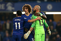 chelsea players celebrate the victory after Chelsea vs Tottenham Hotspur, Premier League Football at Stamford Bridge on 27th February 2019