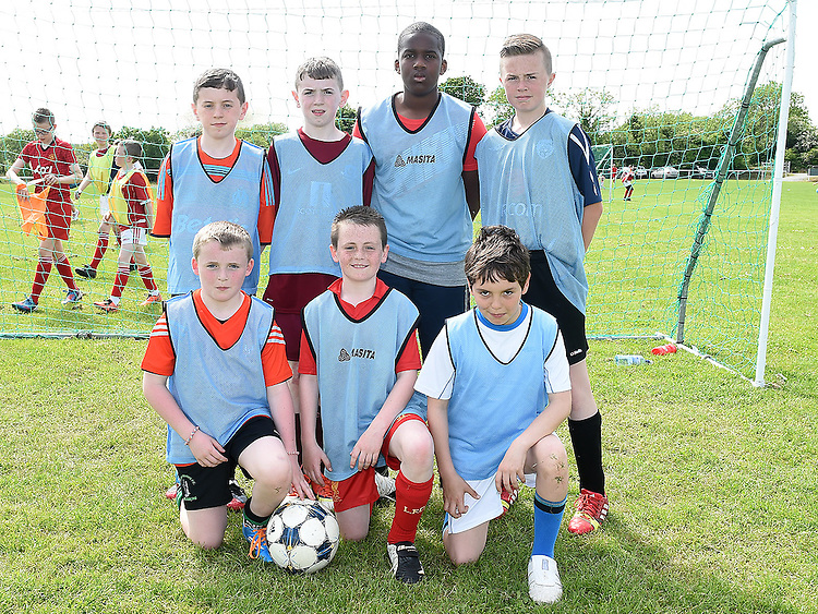 Mell National School who took part in the Albion Rovers Soccer Blitz. Photo:Colin Bell/pressphotos.ie