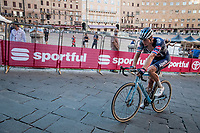 Mathieu Van der Poel (NED/Alpecin-Fenix) rolling in on the Campo, finishing 15th<br /> <br /> 14th Strade Bianche 2020<br /> Siena > Siena: 184km (ITALY)<br /> <br /> delayed 2020 (summer!) edition because of the Covid19 pandemic > 1st post-Covid19 World Tour race after all races worldwide were cancelled in march 2020 by the UCI