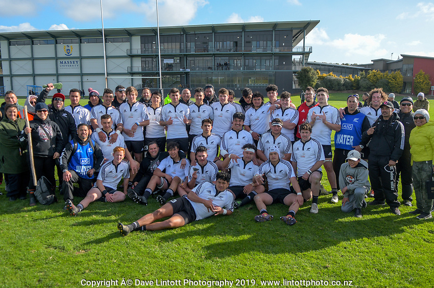 NZ Maori Under-18 team. Game Of Three Halves NZ Schools pre-season rugby match at the Sport & Rugby Institute in Palmerston North, New Zealand on Thursday, 26 September 2019. Photo: Dave Lintott / lintottphoto.co.nz