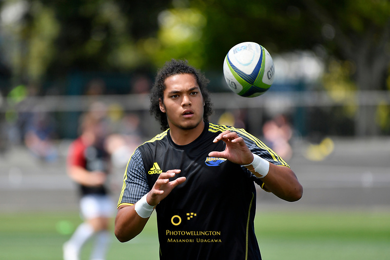 Naitoa Machete Ah Kuoi, Super Rugby Preseason - Hurricanes v Crusaders at Levin Domain, Levin, New Zealand on Saturday 2 February 2019. <br /> Photo by Masanori Udagawa. <br /> www.photowellington.photoshelter.com