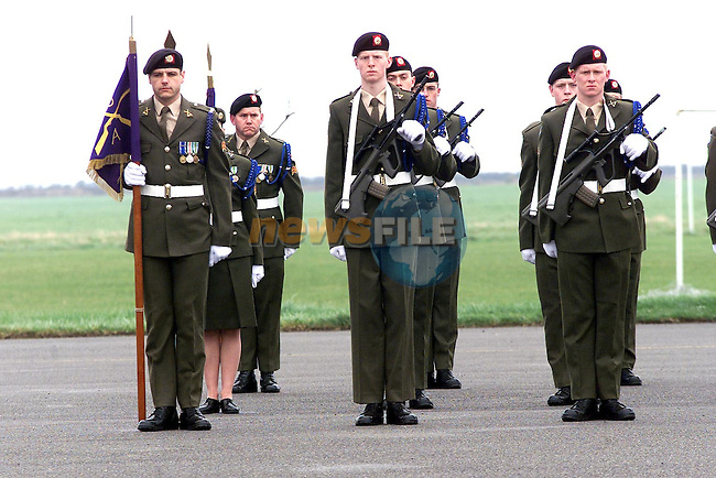Members of the 63rd Recruit Platoon who passed out at Gormanstown Army..Picture Paul Mohan Newsfile