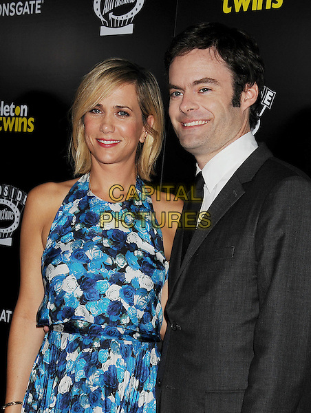 HOLLYWOOD, CA- SEPTEMBER 10: Actors Kristen Wiig (L) and Bill Hader attend 'The Skeleton Twins' Los Angeles premiere held at the ArcLight Hollywood on September 10, 2014 in Hollywood, California.<br /> CAP/ROT/TM<br /> &copy;Tony Michaels/Roth Stock/Capital Pictures