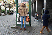 Woman in fur coat, Las Arenas, Basque Country, Spain