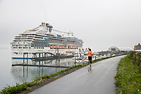 Princess Cruise liner docked in Whittier, Alaska.