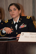 Washington, DC - January 22, 2014: Lieutenant General Flora D. Darpino, Judge Advocate General of the U.S. Army, speaks at a breakout session of women mayors during the 82nd Winter Meeting of the U.S Conference of Mayors January 22, 2014. (Photo by Don Baxter/Media Images International)