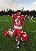 Jul 31, 2009; Flagstaff, AZ, USA; Arizona Cardinals safety Rashad Johnson during training camp on the campus of Northern Arizona University. Mandatory Credit: Mark J. Rebilas-