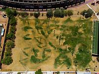 Vista aerea de Complejo deportivo de la Comisi&oacute;n Estatal de Deporte, CODESON en Hermosillo, Sonora....<br /> <br /> Campo De Tiro Con Arco. Sequ&iacute;a. Pasto. Pasto seco. C&eacute;sped Verde.<br /> <br /> <br /> Photo: (NortePhoto / LuisGutierrez)<br /> <br /> ...<br /> keywords: