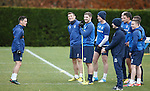 Players having a laugh at training
