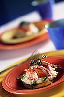 """Amérique/Amérique du Nord/USA/Etats-Unis/Vallée du Delaware/Pennsylvanie/Philadelphie : Homard sur risotto - Recette de Chris Painter chef du restaurant """"Tangerine"""" 232 Market Street"""