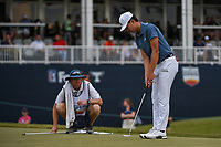 Brandon Wu (USA) looks over his putt on 18 during round 4 of the 2019 Houston Open, Golf Club of Houston, Houston, Texas, USA. 10/13/2019.<br /> Picture Ken Murray / Golffile.ie<br /> <br /> All photo usage must carry mandatory copyright credit (© Golffile | Ken Murray)