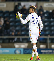 Goalkeeper Jamal Blackman of Wycombe Wanderers during the Sky Bet League 2 match between Wycombe Wanderers and Hartlepool United at Adams Park, High Wycombe, England on 26 November 2016. Photo by Andy Rowland / PRiME Media Images.