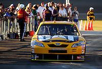 Feb 29, 2008; Las Vegas, NV, USA; NASCAR Sprint Cup Series driver Dave Blaney during qualifying for the UAW Dodge 400 at Las Vegas Motor Speedway. Mandatory Credit: Mark J. Rebilas-