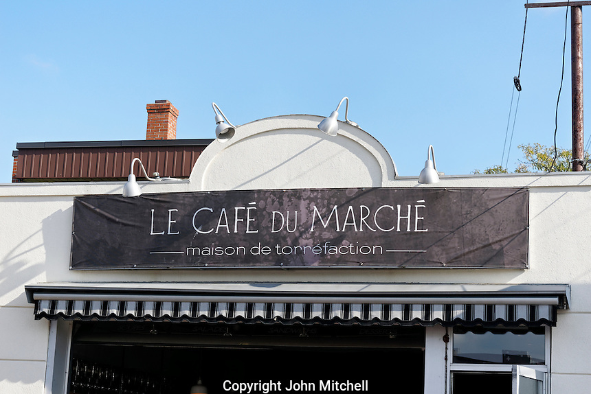 The Cafe de la Marche next to the Jean Talon Market, Montreal, Quebec, Canada