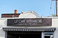 The Cafe de la Marche next to the Jean Talon Market, Montreal, Quebec, Canada