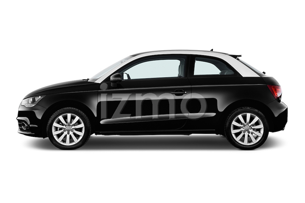 Driver side profile view of a 2014 Audi A1 Ambition 3 Door Hatchback 2WD