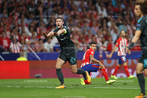 Gary Cahill (Chelsea), SEPTEMBER 27, 2017 - Football / Soccer : UEFA Champions League Mtchday 2 Group C match between Club Atletico de Madrid 1-2 Chelsea FC at the Estadio Metropolitano in Madrid, Spain. (Photo by Mutsu Kawamori/AFLO) [3604]