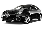 Stock pictures of low aggressive front three quarter view of 2015 Alfa Romeo Giulietta Distictive 5 Door SUV