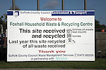 Household waste and recycling centre, Foxhall, near Ipswich, Suffolk, England