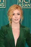 HOLLYWOOD, CA - AUGUST 7: Katherine McNamara at the premiere of Crazy Rich Asians at the TCL Chinese Theater in Hollywood, California on August 7, 2018. <br /> CAP/MPI/DE<br /> &copy;DE//MPI/Capital Pictures