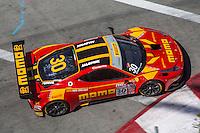 Henrique Cisneros, #30 Ferrari 458 GT3 Italia, Pirelli World challenge race, Long Beach Grand Prix, Long Beach, CA, April 2015.  (Photo by Brian Cleary/ www.bcpix.com )