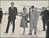 BNPS.co.uk (01202 558833)<br /> Pic DominicWinter/BNPS<br /> <br /> ***Please use full byline***<br /> <br /> Trubshaw with Princess Margaret and Michael Heseltine (transport secretary at the time). <br /> <br /> The supersonic archive amassed by legendary Concorde test pilot Brian Trubshaw during his flying career is being sold by his family.<br /> <br /> The collection made by the late airman who was the first to fly the famous turbo-jet in Britain in 1969, includes all his log books covering his 30 years service.<br /> <br /> He went on to put Concorde through its paces, criss-crossing the globe at twice the speed of sound before the plane entered commercial service six years later.<br /> <br /> The archive is being sold by Dominic Winter Auctioneers, Glocs. on November 7th.