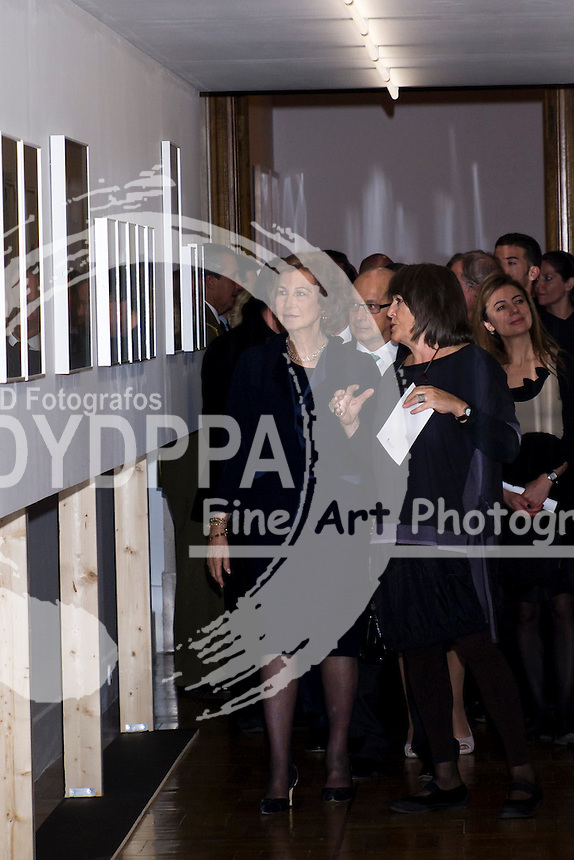 22.11.2012. Queen Sofia presided delivering the XXIII edition of the award Tomas Francisco Prieto, awarded by the Royal Mint, the Mint Museum, Madrid Spain. In the picture: Queen Sofia. (C)  Ivan L. Naughty / DyD Fotografos