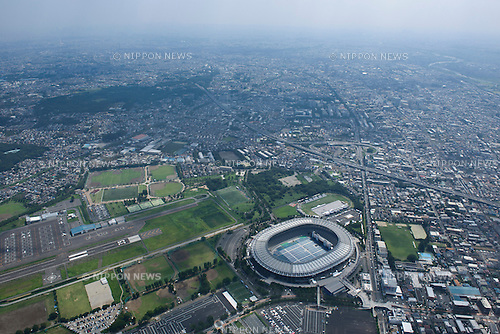 Musashino Forest Park and Sport Centre: Tokyo, Japan: Aerial view of proposed venue for the 2020 Summer Olympic Games. (Photo by AFLO)